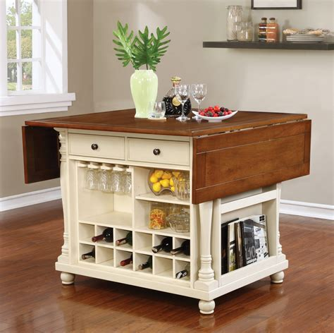 buttermilk cherry kitchen island with drop leaves 102271 buttermilk and cherry kitchen island marjen of chicago