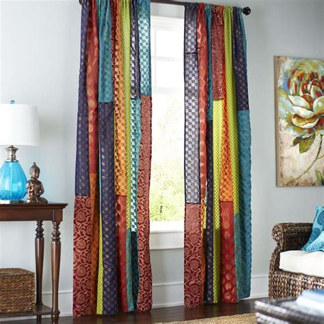 Sari Patchwork Curtain - sari patchwork curtain pier 1 imports patchwork