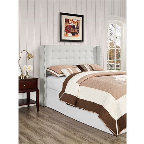 walmart king headboards nottingham king california king button tufted wingback