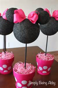 Minnie Mouse Decoration Ideas by Minnie Mouse Centerpiece Decorations Simply Being Abby