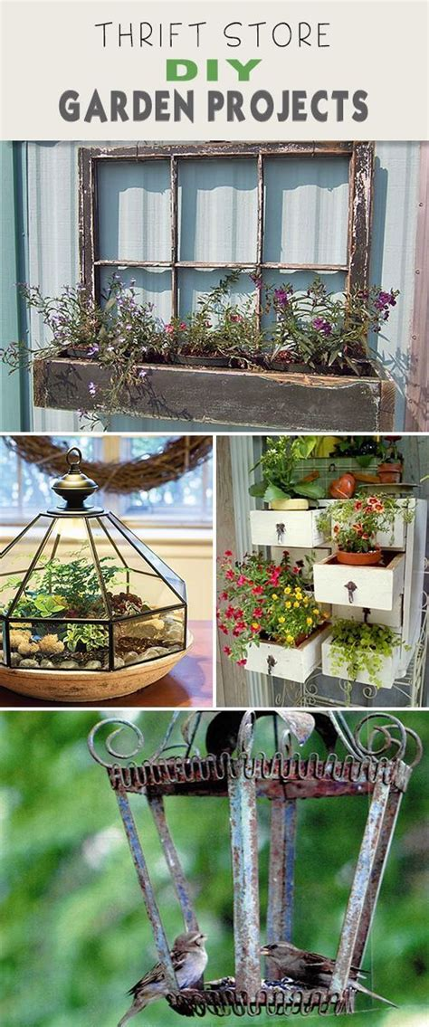 thrift store diy garden projects gardens bebe and