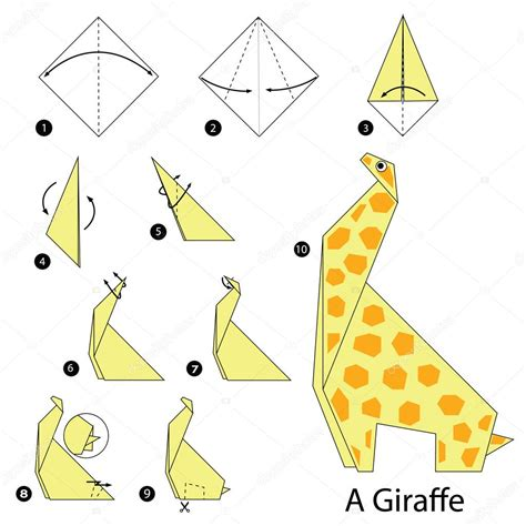 On How To Make Origami - istruzioni passo per passo come fare origami a giraffa