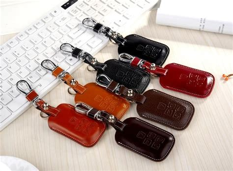 cowhide leather key cover for landrover range rover