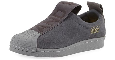 Adidas Slip On Suede lyst adidas superstar slip on suede sneaker in gray