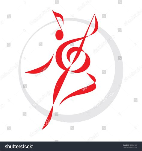 dance sign vector logo template music stock vector