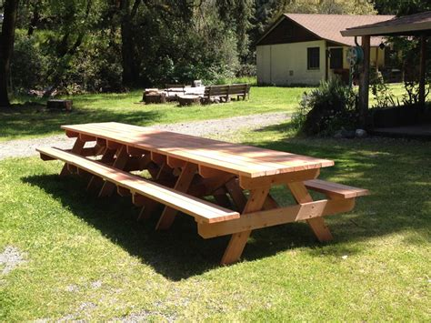picnic table with attached benches 24 picnic table designs plans and ideas inspirationseek com