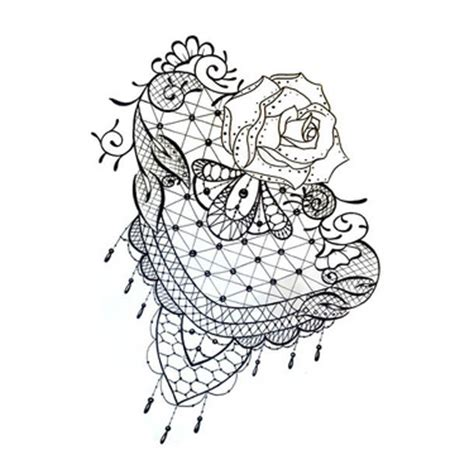 13 lace tattoo designs