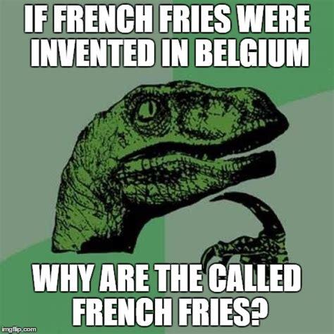 Belgium Meme - philosoraptor meme imgflip