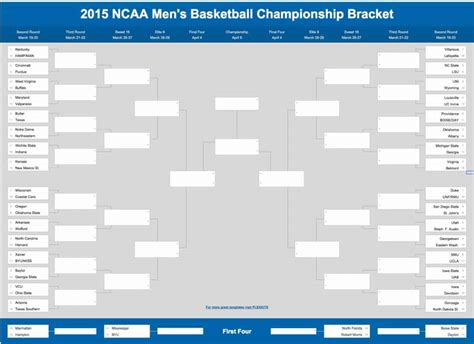 march madness bracket template blank march madness 2015 new calendar template site