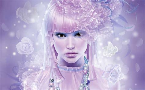 wallpaper girl pink fantasy anime girl pink hair wallpaper