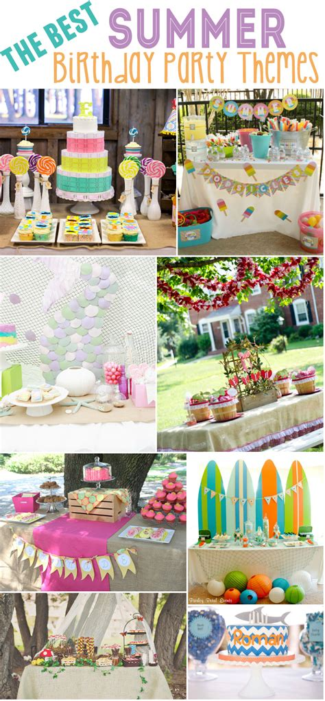 summer themes birthday party ideas birthday party ideas summer