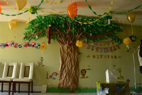theme decorating ideas jungle theme birthday decoration ideas