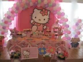 Pink and white hello kitty birthday