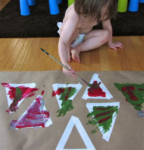 toddler crafts toddler crafts painted tree garland imagine our