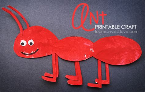 ant craft for printable ant craft