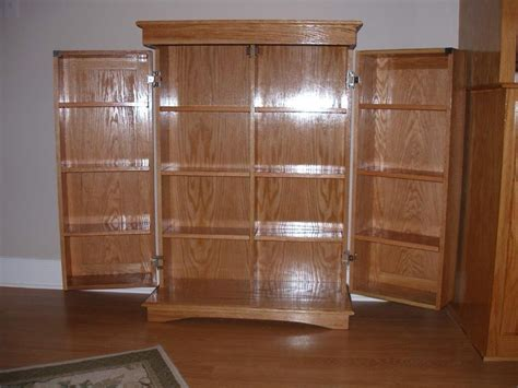 Hand Made Dvd Cabinet by Richards Woodworking   CustomMade.com