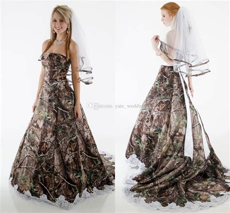 Wedding Dresses For Cheap by Cheap Army Camo Wedding Dresses For Plus Sizes