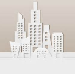 paper city template city buildings paper cut creative vector 01 vector