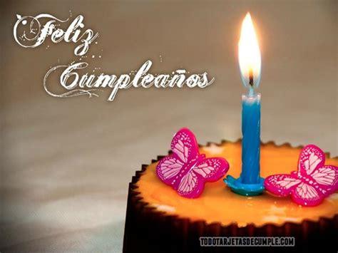 imagenes de cumpleaños con mariposas tarjetas de cumplea 241 os con pastel y mariposas