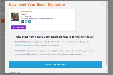 How To Write A Professional Email Signature That Converts Elegant Themes Blog Email Template Generator