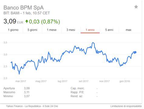 banco popolare valore azione azioni banco bpm conviene investire in popolare di