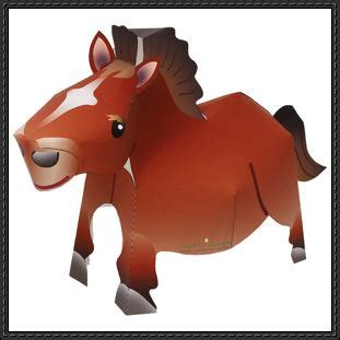 canon papercraft animal paper model free template