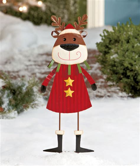 reindeer outdoor metal christmas holiday winter yard lawn