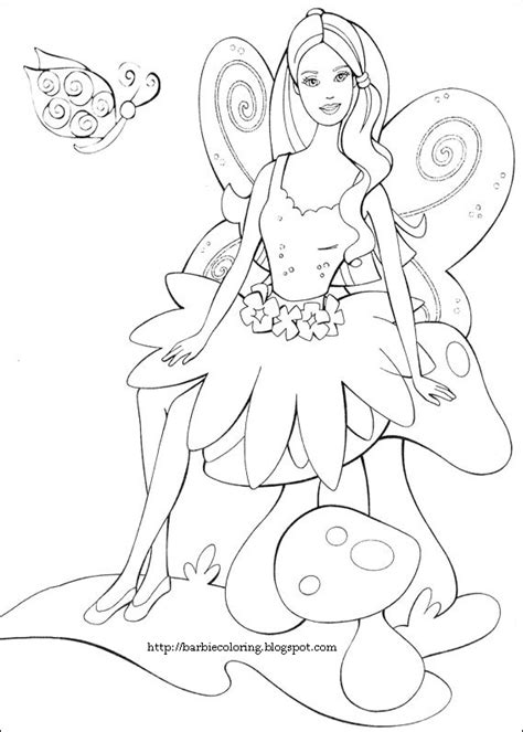 barbie coloring pages barbie as a fairy coloring page