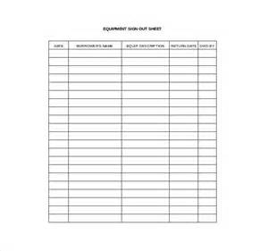 Sign In Out Sheet Template by Sign Out Sheet Template 12 Free Word Pdf Documents