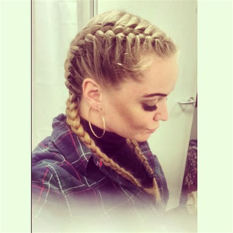 pics of french plaited hair two braid french plait hairs pinterest plaits