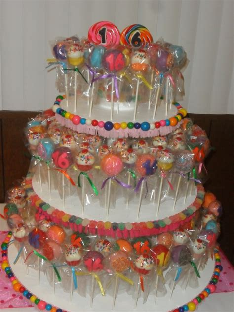 cake pops sweet  candy land theme party ideas