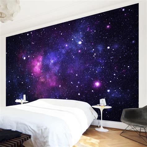 galaxy bedroom walls non woven wallpaper galaxy mural wide