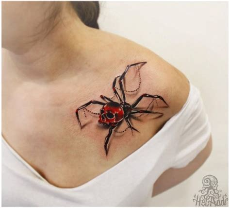 3d spider tattoos spider 3d best ideas gallery