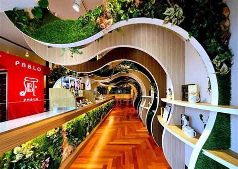 Home Decor Interior Design Blogs by Curvaceous Green Walls Lure Visitors Into This Fresh Baked