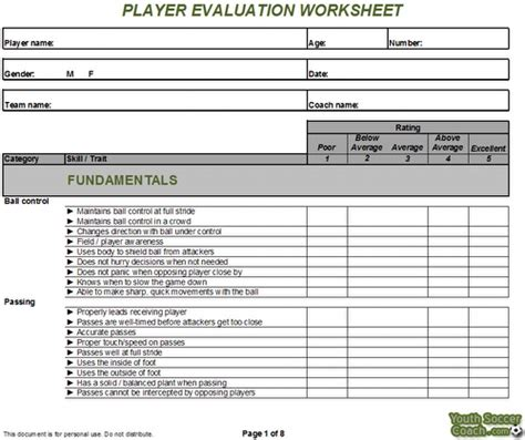 Soccer Recruiting Spreadsheet by Soccer Tryouts Worksheet Tryout Evaluation Form