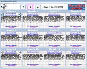pregnancy calendar week by week calendar template