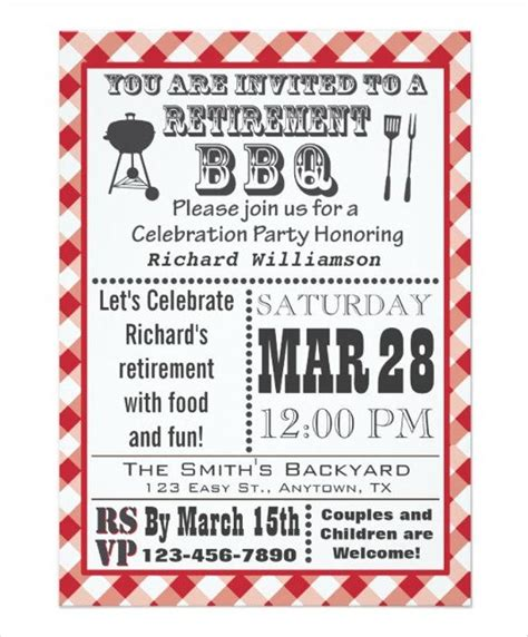 templates for retirement flyers retirement party invitation templates download free