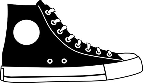 Sepatu Adidas Vektor black hightop shoe clip at clker vector clip royalty free domain