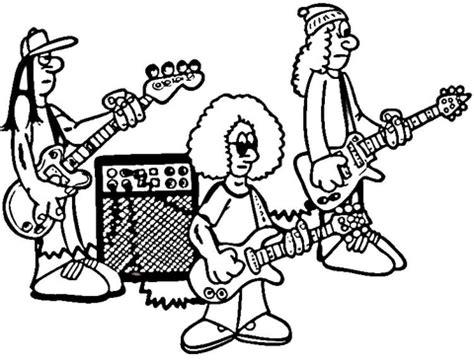 coloring book band ausmalbild rockband beim proben ausmalbilder kostenlos