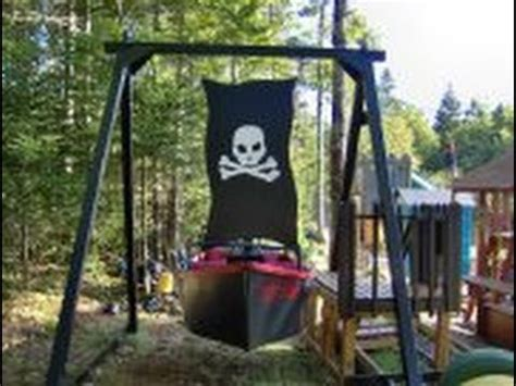 backyard theme park backyard amusement ride the pirates nightmare youtube