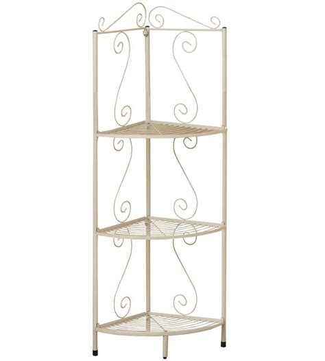 Metal Etagere Bathroom Metal 48 Inch Corner Display Etagere In Bathroom Shelves