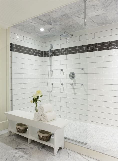 white subway tile walk in shower subway tiled shower enclosure design ideas