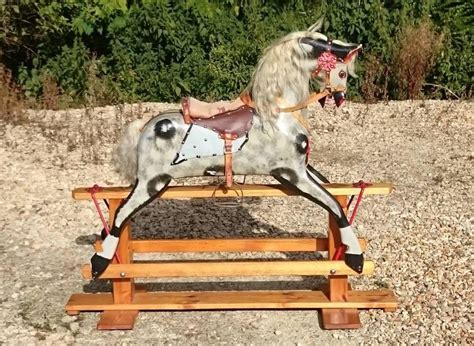 Handmade Rocking Horses Uk - handmade painted large rocking by collinson of