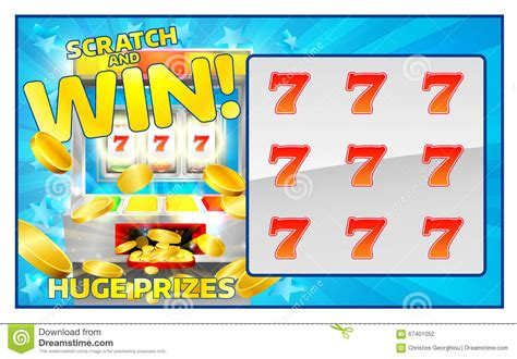 scratch and win card template lottery scratch and win card stock vector image 67401052