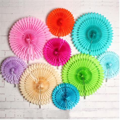 Fold Out Paper Decorations - cheap 16 inch 40cm hollow out paper folding fan for