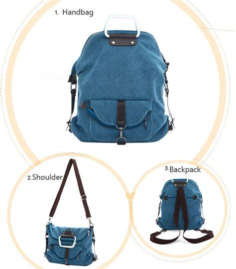 fashion multi function canvas shoulder bag backpack