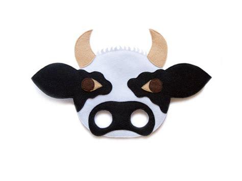 printable animal masks cow cow bull felt mask farm animal mask kids animal by pokiplays