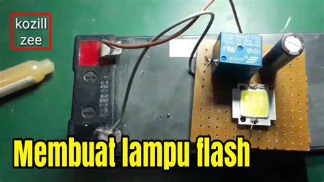 cara membuat lu led flash cara mudah membuat lampu flash blitz led blinking led