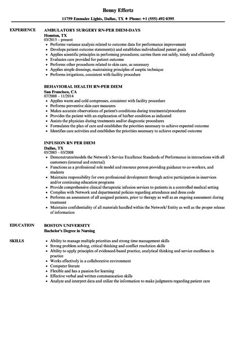 Per Diem Pharmacist Sle Resume by Per Diem Sle Resume Personal Sle Resume