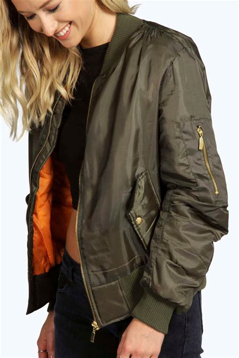 Boomber Jacket bomber jackets in olive green black prints are available
